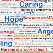 Calling All Nurses Healing Words Cotton Fabric - White