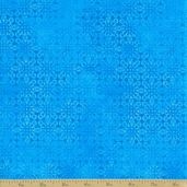 Calypso Cotton Fabric - Medallion Blue