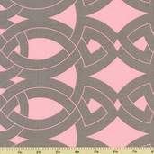 Calypso Swing Cotton Fabric - Pink - Clearance