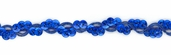 Cancun Cup Sequin Braid Trim - Royal - 36yds