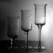 Candle Holder Set - Glass - Set of 3