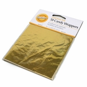 Candy Wrappers Foil Gold -Tone 50 piece