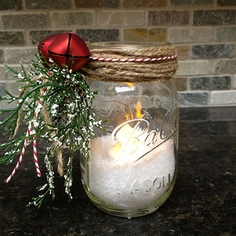 Canning Jar Mantel Light