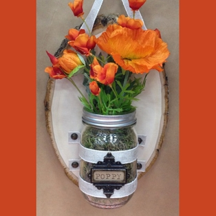 Canning Jar Wall Vase