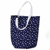 Canvas Tote Bag - Blue and White Stars