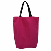 Canvas Tote Bag in Hot Pink