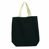 Canvas Tote Bag in Hunter Green