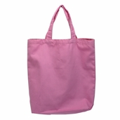 Canvas Tote Bag in Light Pink