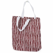 Canvas Tote Bag - Red and White Stripes