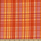 Cape Cod Seersucker Cotton Fabric - Orange CUD-13066-8