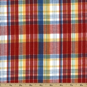 Cape Cod Seersucker Cotton Fabric - Red CUD-13071-3