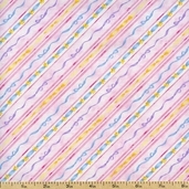 Carousel Dreams Ribbon Stripe Cotton Fabric - Pink