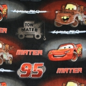 Cars Mcqueen and Tow Mater Fleece - Black