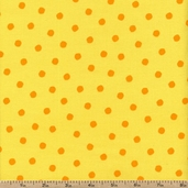 Celebrate Seuss 2 Dots Cotton Fabric - Sunshine