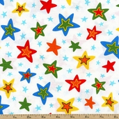 Celebrate Seuss 3 Stars Cotton Fabric - Celebration ADE-13058-203 CELEBRATION