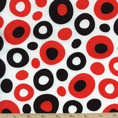 Celebrate Seuss! Circle Dot Cotton Fabric - White