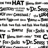Celebrate Seuss Cotton Fabrics - Black