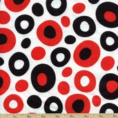Celebrate Seuss Dots Flannel - Black ADEF-11966-2 BLACK