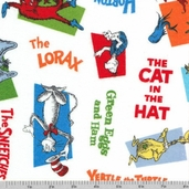 Celebrate Seuss Flannel - Bright Characters