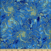 Celestials Cotton Fabric - Aquarius Gold K7221-536