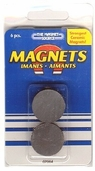 Ceramic Craft Magnet Disc 1 inch 3 Pkgs