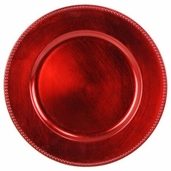 Charger Plate Plastic - Red