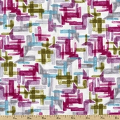 Charleston Geo Cotton Fabric - Multi 112-22031 - Clearance