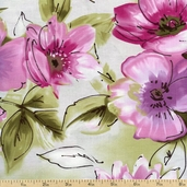 Charleston Large Floral Cotton Fabric - Multi 112-21981 - Sale