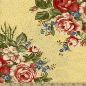 Charlevoix Bouquet Cotton Fabric -Yellow 14690-18