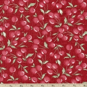 Charlevoix Cherries Cotton Fabric - Sand 14694-16