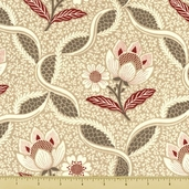 Chateau Rouge Chatelaine Cotton Fabric - Natural 13621-13