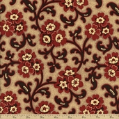 Chateau Rouge Cotton Fabric - Faded Red 13623-14