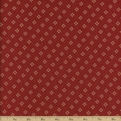 Chateau Rouge Cotton Fabric - Faded Red 13629-11