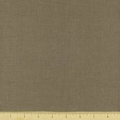 Chateau Rouge Floral Linen Solid Cotton Fabric - Grey 13529-93