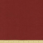 Chateau Rouge Linen Solid Cotton Fabric - Red 13529-90