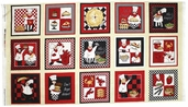 Chefs International Cotton Fabric - Craft Panel Multi