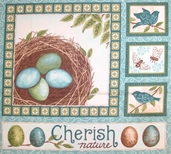 Cherish Nature Cotton Fabric - Panel