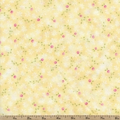 Cherished Memories Flower Toss Cotton Fabric - Yellow