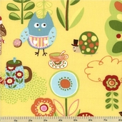 Cherry on Top Cotton Fabric - Candy Land - Yellow 32700-15