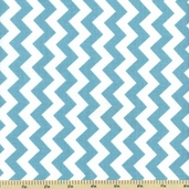 Chevron Small Cotton Fabric - Aqua C340-20