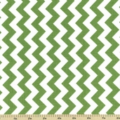 Chevron Cotton Fabric - Small Zig Zag - Green C340-30