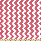 Chevron Cotton Fabric - Small Zig Zag - Hot Pink C340-70