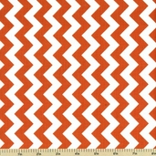 Chevron Cotton Fabric - Small Zig Zag - Orange C340-60