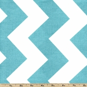 Chevron Large Cotton Fabric - Aqua C330-20