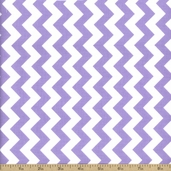 Chevron Small Cotton Fabric - Lavender C340-120