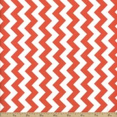 Chevron Small Cotton Fabric - Rouge C340-79
