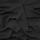Chiffon Wedding Fabric - Black