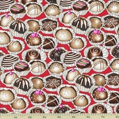 Chocoholic Candy Cotton Fabric - Red 3923-60592-1