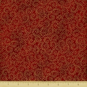 Christmas Botanical Cotton Fabric - Small Vine - Garnet Gold