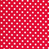 Christmas Candy Cotton Fabric - Red